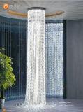Lustre projectif de grand hôtel grand de luxe de lustre de lustre de plafond