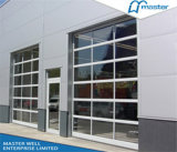 高品質Aluminum Profile Tempered Glass DoorかTempered/完全眺め/Frosted/Plexiglass/Glass/Mirror/Transparent/Aluminum Garage Door