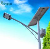 Réverbère simple solaire séparé de la haute énergie 40-196W DEL avec le détecteur de mouvement