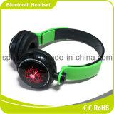 Auriculares elegantes e coloridos de Bluetooth com luz do diodo emissor de luz