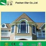 Placa de revestimento de fibra de cimento para construção (textura de madeira)