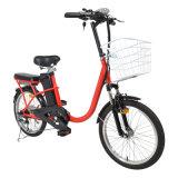 Una bicicletta elettrica da 20 pollici con il motore senza spazzola del mozzo 250W