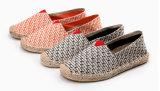 若者(MD 19)のための男女兼用の縞の平たい箱の麻の靴