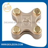 Terra Lightning Protection Copper Square Tape Clamp para Overlapping Tapes