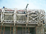경량 Arc Truss Steel Structure Construction Large Span 99m