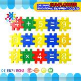 Jouets intellectuels de jouets de synthons, jouets éducatifs en plastique de modèle de forme de numéros pour des gosses