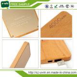 Bambus-/hölzerne bewegliche Energien-Bank 5200mAh