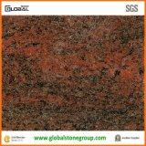 Естественный индийский Multicolor красный гранит для верхних частей тщеты ванной комнаты