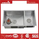 acero inoxidable de la pulgada 32X17 bajo fregadero de cocina hecho a mano del montaje