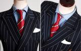 Juegos dobles rayados negros de la boda del juego de salón de Breasted mejores para los hombres