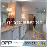 Partes superiores de mármore cinzentas para a parte superior da vaidade do banheiro no apartamento/hotel/casa de campo residenciais