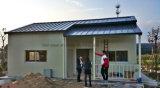 Casa prefabricada móvil del chalet con la tarjeta de la decoración del PVC