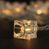 Venta al por mayor pendiente de la luz de la cadena del hielo de la batería del hielo transparente de la luz