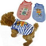 개는 캐주얼 셔츠 제품 공급 애완 동물 옷을 입는다