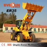Qingdao Everun de Lader van het Wiel van 3.0 Ton met de Regelbare Vorken van de Pallet