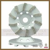 100mm 4インチのダイヤモンドの石およびコンクリートのための粉砕のコップの車輪