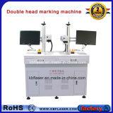 Double ce principal, machine de gravure de laser de fibre d'OIN 20W