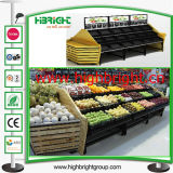 Supermarkt Metal und Wooden Display Rack für Vegetables und Fruits