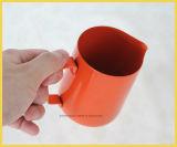 Arte de Latte del acero inoxidable que espumejea la jarra