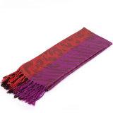 Шаль повелительниц Pashmina зимы шарфа Viscose новой конструкции пурпуровая