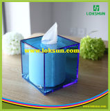 Recipiente acrílico da caixa do tecido do guardanapo do projeto novo usado no hotel