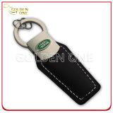 A corrente chave personalizada de couro genuíno com grava o logotipo