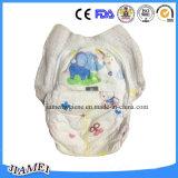 伸縮性があるウエストを搭載する通気性の柔らかく使い捨て可能な赤ん坊のおむつ