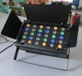 納屋の大戸との24PCS 3W RGBW力LEDの段階の照明