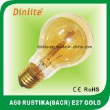 Bulbo dourado de A60-E27-8 (ACR) Rustika