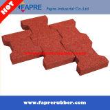 ブロックを舗装するリサイクルされた安定した犬用の骨のゴム製タイルまたは犬用の骨のゴム
