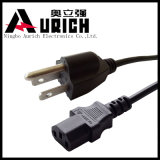 China-Goldlieferanten-Netzanschlusskabel, NEMA 5-15p, 2pin 3pin Laptop-Kabel, Extensions-Stecker