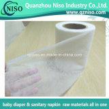Tissu hydrophile non tissé de Spunbonded pour les matières premières de couches-culottes de bébé (LS-RT05)