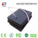 太陽電池の収納箱の地下の蓄電池外箱