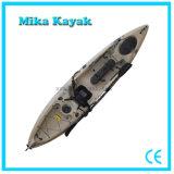 Caiaque do pedal do barco da canoa da pesca com sistema de leme