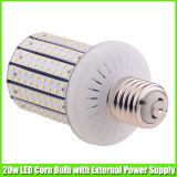20 와트 LED 옥수수 개조 전구를 점화하는 주차장