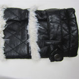 El más nuevo estilo, más tamaño, chaqueta de cuero de la PU de la guarnición de la piel del Faux