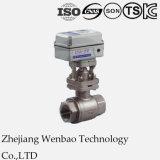 Válvula de bola 2PC motorizado eléctrico para uso industrial