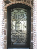 La entrada al aire libre moderna Puerta de hierro forjado seguridad del metal