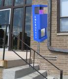 Pfosten, im Freienservice-Telefon, allgemeines Telefon, Hilfen-Telefon Wand-Einhängen