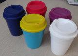 Tasse en plastique personnalisée nouveau par modèle de crême glacée de certificat de GV (IC002)