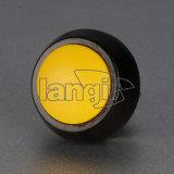 黄色いアクチュエーターを搭載する12mmのZinAlの合金の皮の押しボタンスイッチ