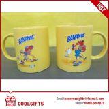 Tazza di caffè di ceramica del Rainbow con la stampa variopinta per il regalo promozionale