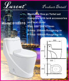 Toilette d'une seule pièce de carte de travail de nettoyage d'individu de lavage à grande eau de salle de bains de poterie