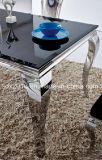현대 거실 유럽 유행 까만 유리제 중심 탁자