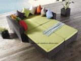 Sofà esterno del giardino della mobilia del rattan di disegno popolare impostato dal &PE-Rattan dell'Aluminum Frame tessuto (YT016-8PCS/set)