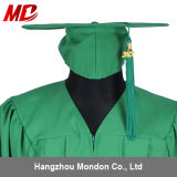 De Kelly de graduation de chapeau de robe de gland vente en gros verte adulte bon marché