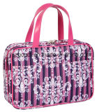 Print floreale Fashion Travel Toiletry Wash Cosmetic Bag con Inside Compartments