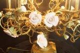 Linda lâmpada de mesa clássica de decoração de flores clássicas (MT0907-6)