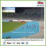 oppervlakte van de Mat van de Renbaan van het Synthetische Rubber Perfabricated van het Stadion van 400m de Atletische