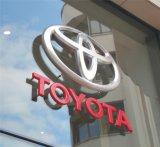 Logotipo e nomes iluminados diodo emissor de luz fixados na parede do carro do acrílico da alta qualidade feita sob encomenda